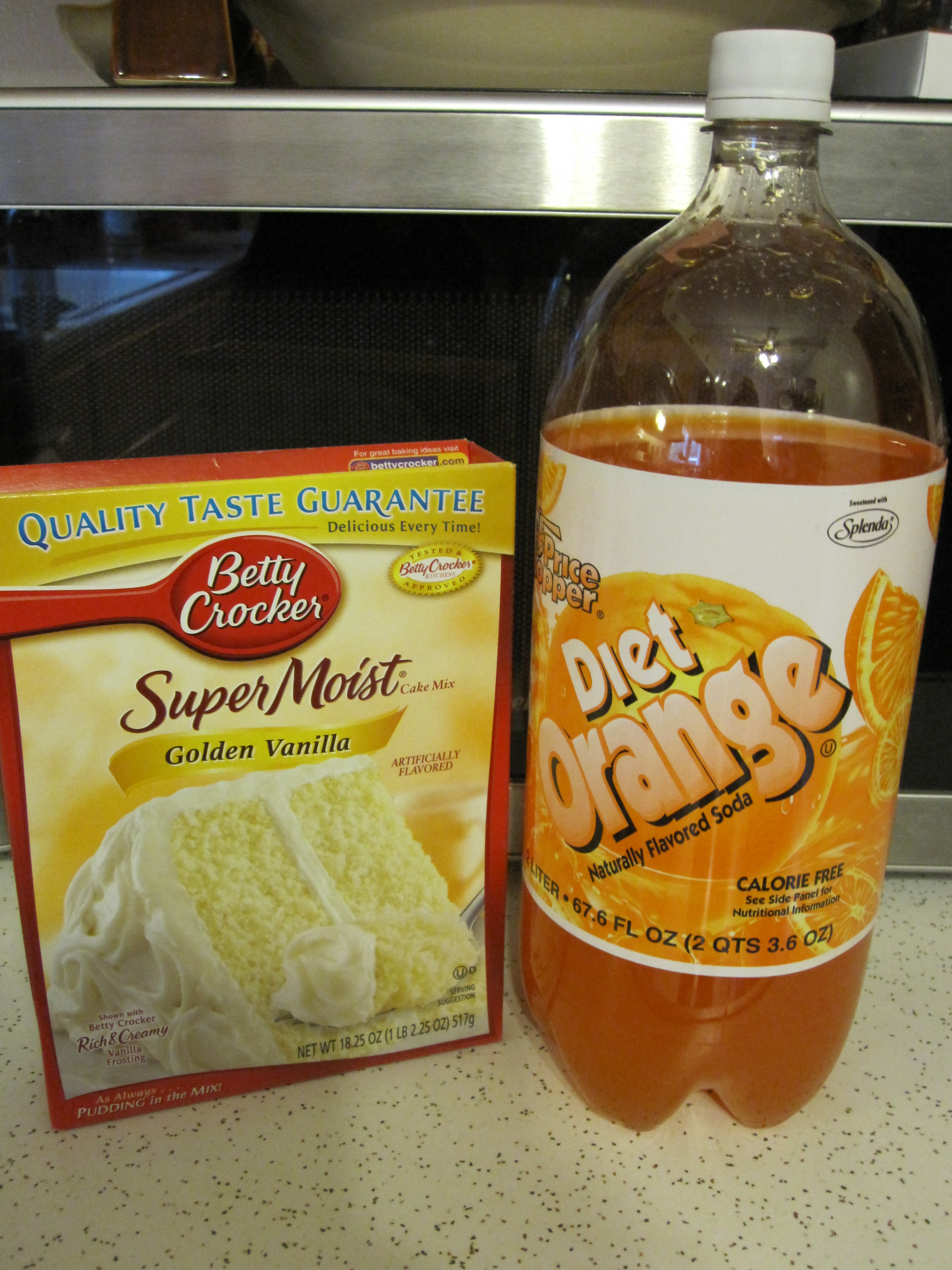 Box Cake Mix Made With Diet Soda